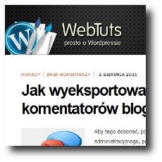 WebTuts - Prosto o WordPressie