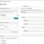 Wykonanie menu hierarchicznego z poziomu panelu administracyjnego