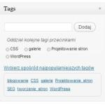Etykietowanie wpisu w WordPressie