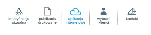Strona na WordPressie z menu obrazkowym