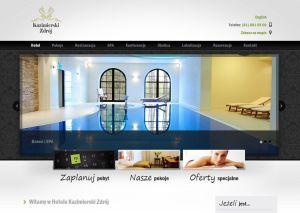 Rys 1. Hotel Kazimierski - przykład witryny wielojęzycznej działającej w oparciu o WordPress MultiSite