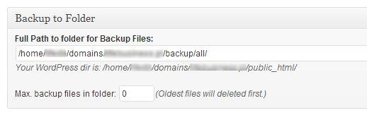 Ścieżka, gdzie mają być składowane kopie zapasowe (wtyczka BackWPUp)