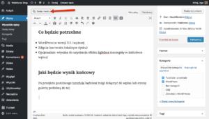 Dodawanie galerii w WordPressie. Krok 2.