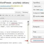 Dodanie ikony wpisu w WordPressie