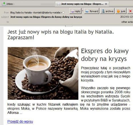 Obrazki w newsletterze