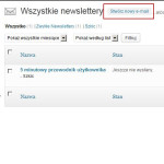 Utworzenie Newslettera Wysija - krok 4a
