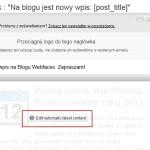 Utworzenie Newslettera Wysija - krok 4f