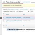 Utworzenie Newslettera Wysija - wynik kroku 4i