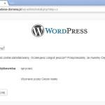 Instalacja WordPressa w sztucznej domenie - krok 2