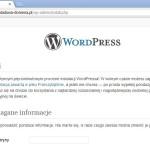 Instalacja WordPressa w sztucznej domenie - krok 1
