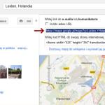 Pobranie kodu mapy google ze strony Google Maps
