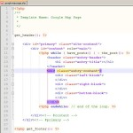 Struktura strony - kod php i HTML
