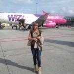 Po wylądowaniu w Eindhoven. Lot z Wrocławia trwał póltora godziny.