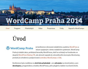 WordCamp Praga 2014 - oficjalna strona