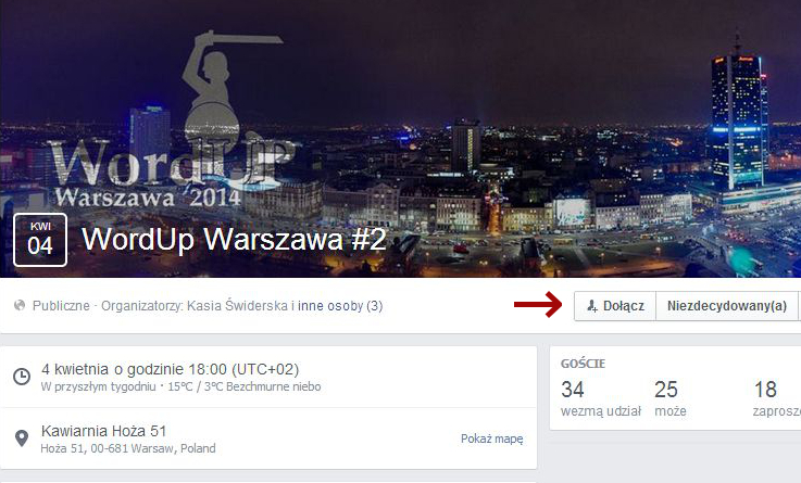 WordUp Warszawa - jak się zapisać