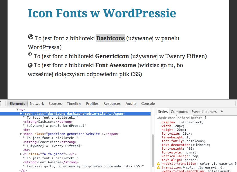Różnego rodzaju Icon Fonts w WordPressie