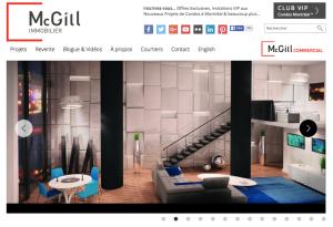 Slider z nieruchomościami na stronie mcgillimmobilier.com