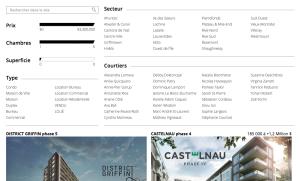 Wyszukiwarka na stronie www.mcgillimmobilier.com zbudowana przez zespół Ildara
