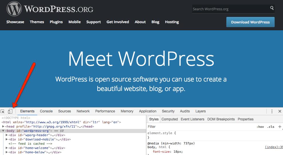Jak testować media queries w Chrome - krok 2