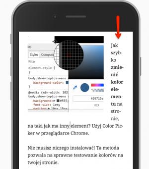 Problem na urządzeniu mobilnym, który rozwiążemy za pomocą media queries
