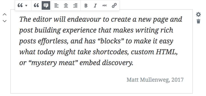 Tworzenie cytatów w edytorze Gutenberg