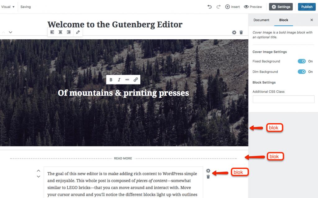 Edytor Gutenberg - wszystko co tworzysz jest blokiem