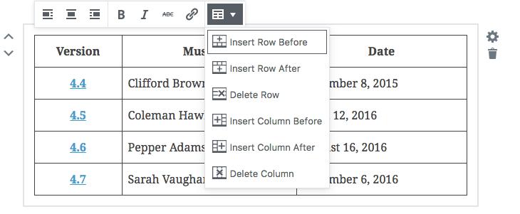 Edycja tabel w edytorze Gutenberg