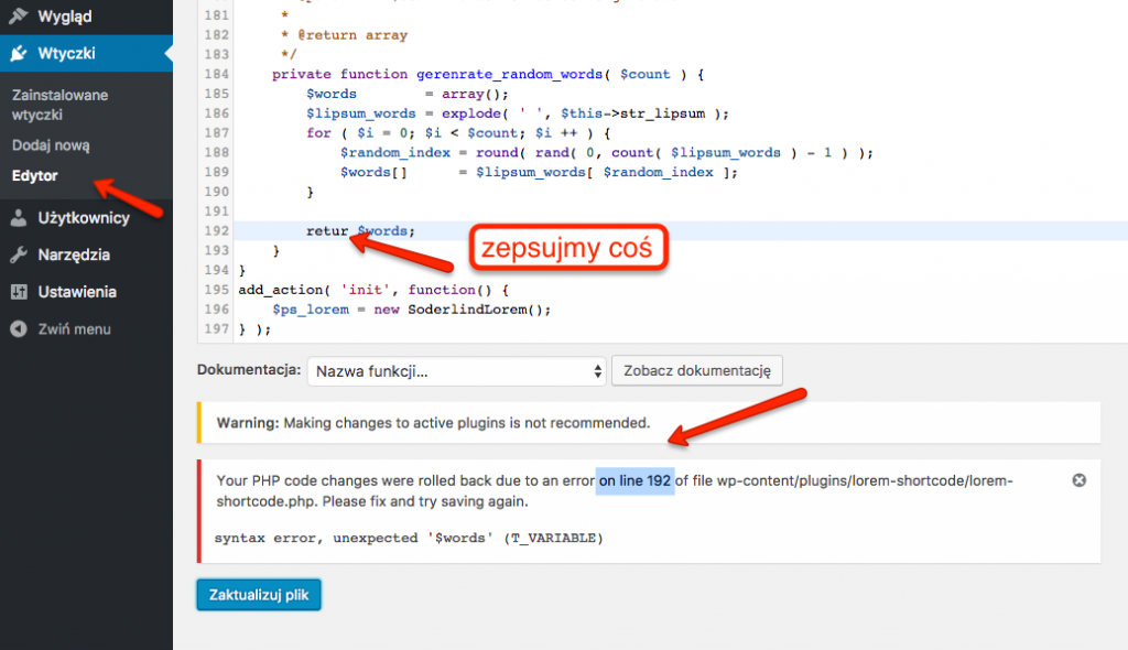 Usprawnienie pracy z edycją kodu w edytorach WordPressa
