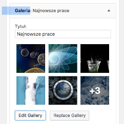 WordPress widget Galeria