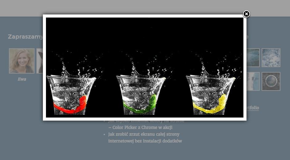 Otwieranie zdjęcia w powiększeniu z tzw. efektem lightbox