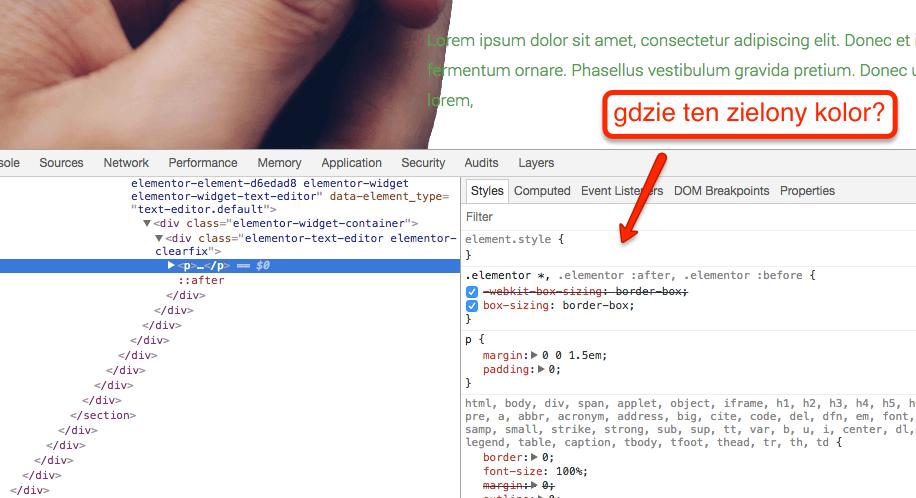 Analiza stylów generowanych przez Page Buildery do najłatwiejszych nie należy