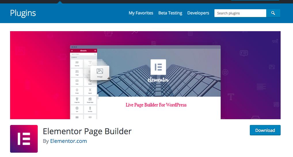 Elementor - darmowy page builder