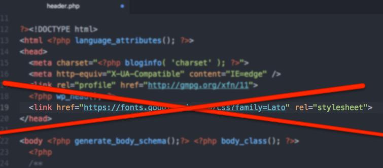 header.php - nie należy dodawać plików CSS bezpośrednio do pliku header.php