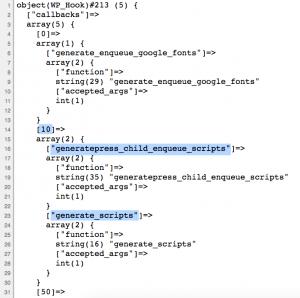 Rys. 1 - Kolejność wywołania funkcji podczepionych pod hook wp_enqueue_scripts przy parametrze domyślnym funkcji add_action