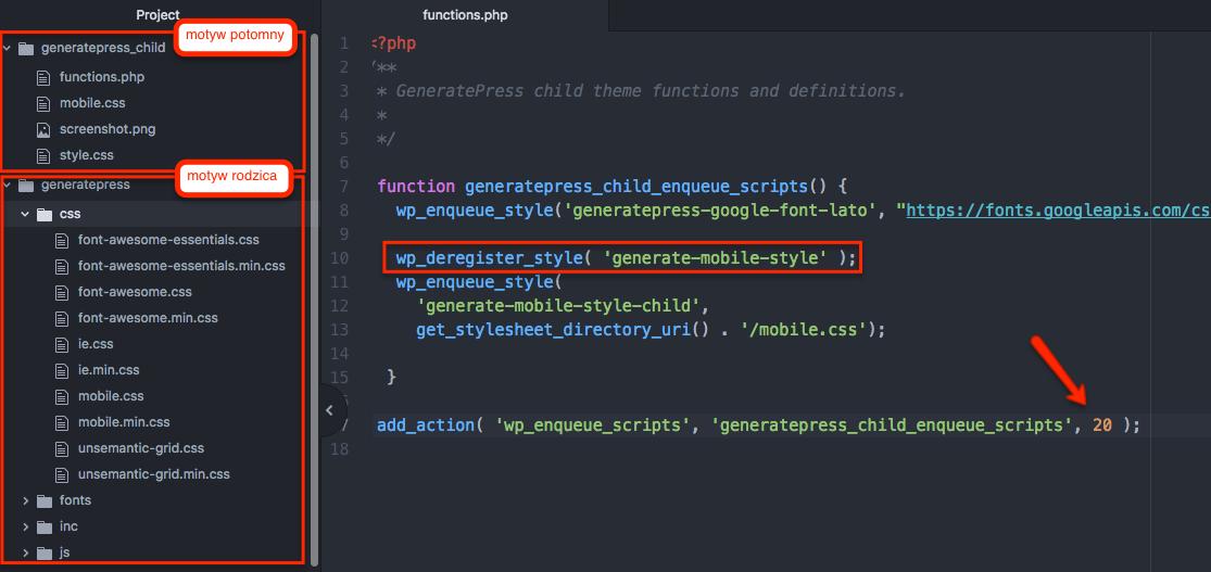 Wyrejestrowywanie pliku CSS w WordPressie