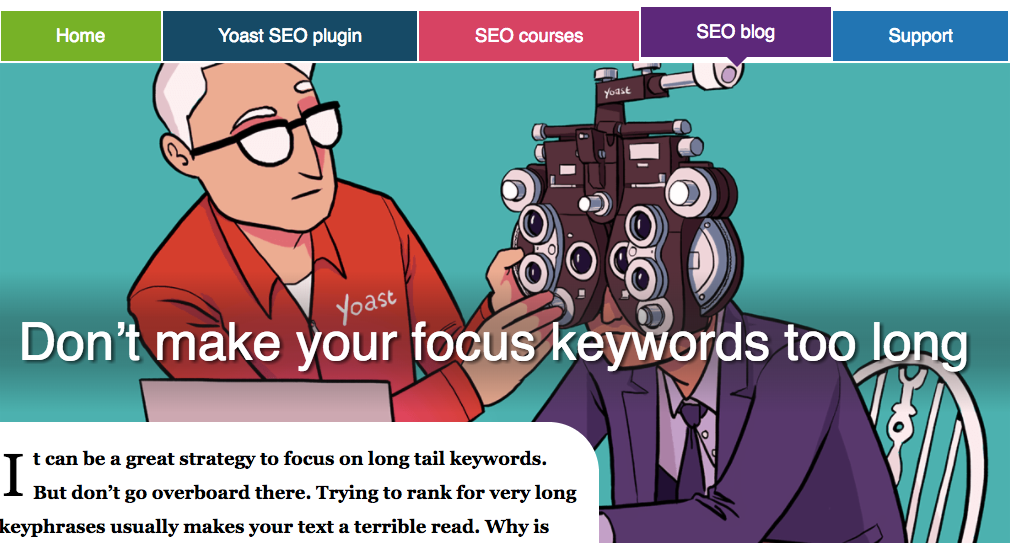 Don't make your focus keywords too long - artukuł godny uwagi na yoast.com/focus-keywords-too-long/