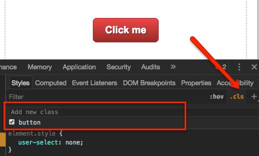 Opcja cls w Chrome DevTools
