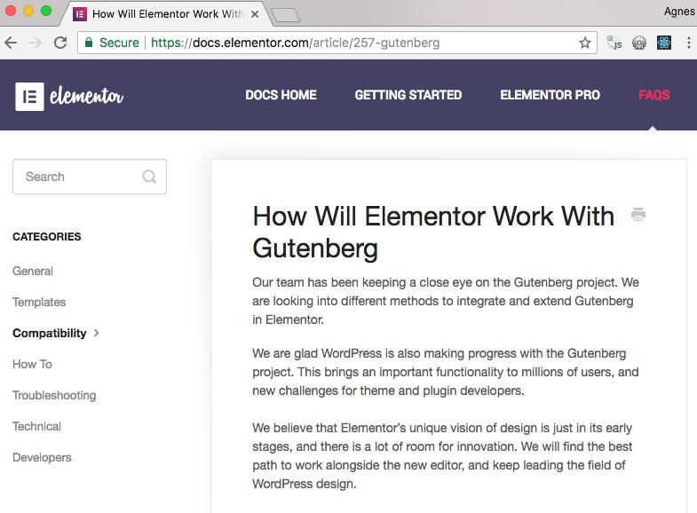 Jak Elementor będzie działać z Gutenbergiem