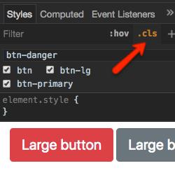 Opcja cls Chrome DevTools - obrazek
