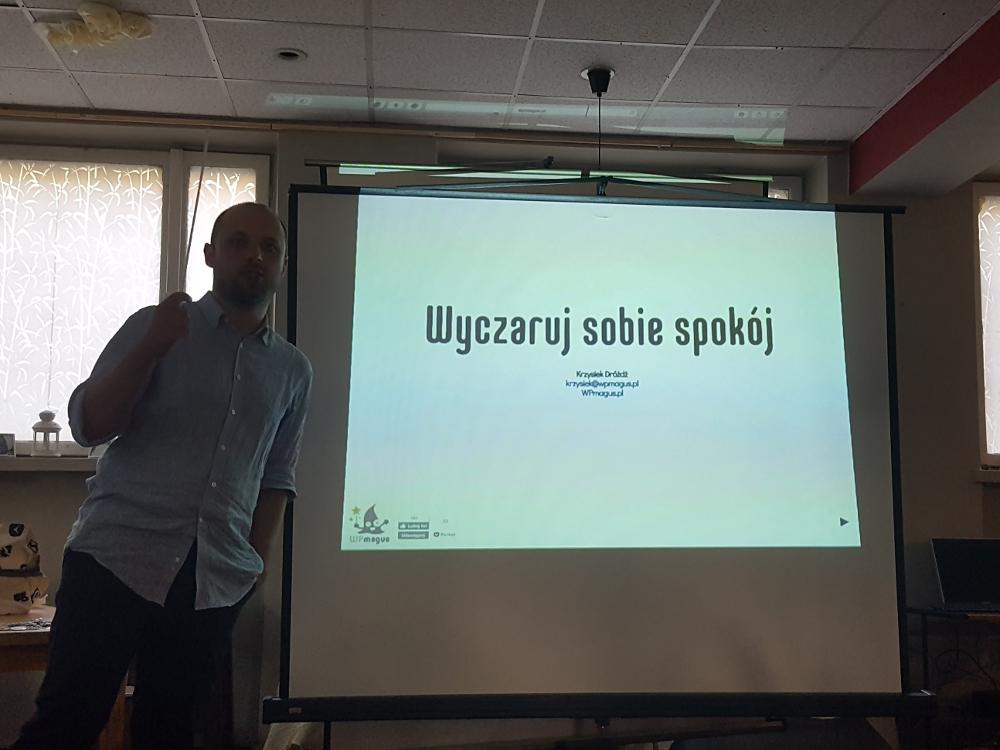 Krzysztof Dródż w prezentacji o bezpieczeństwie strony na WordPresie