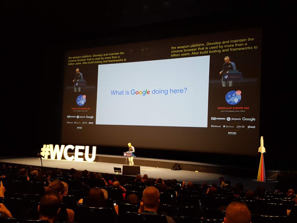 Google na WordCamp Europe