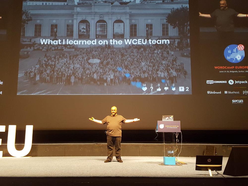 Wystąpienie Paolo Belcastro na WordCamp Europe 2018