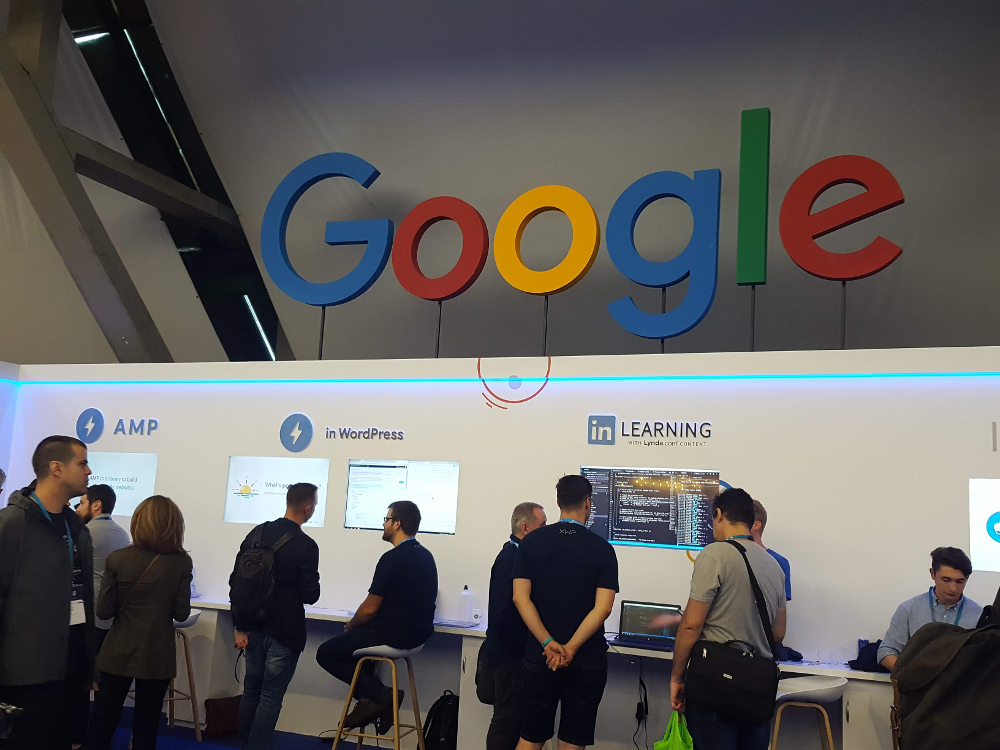 Stoisko Google'a na WordCamp Europe w Belgradzie