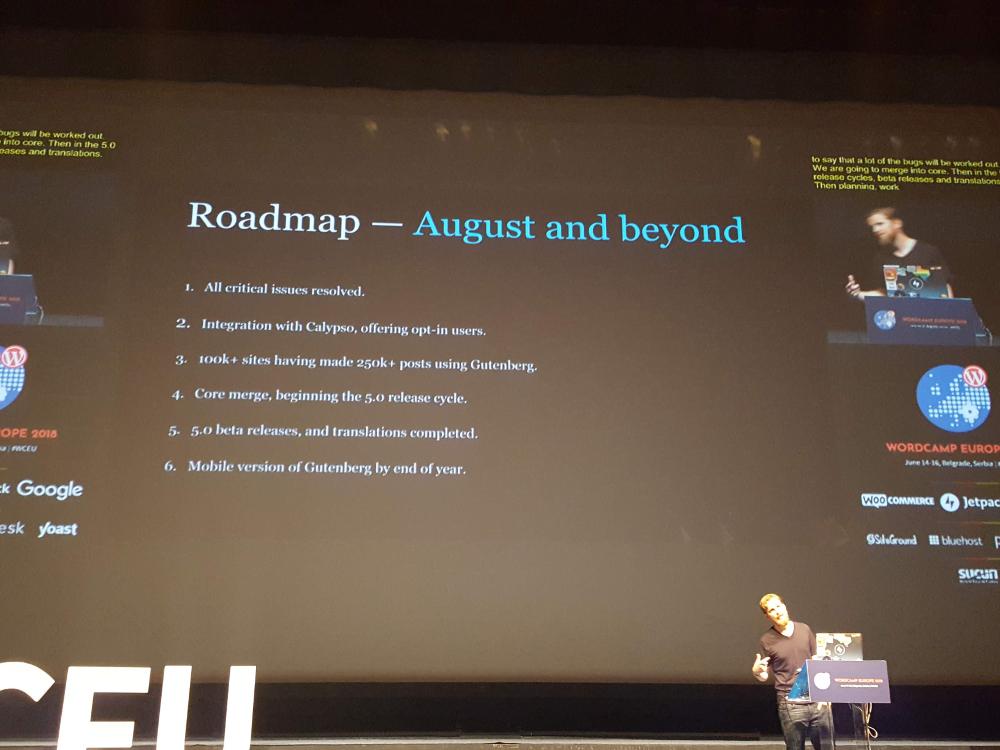 WordPress i Gutenberg - plany na sierpień 2018