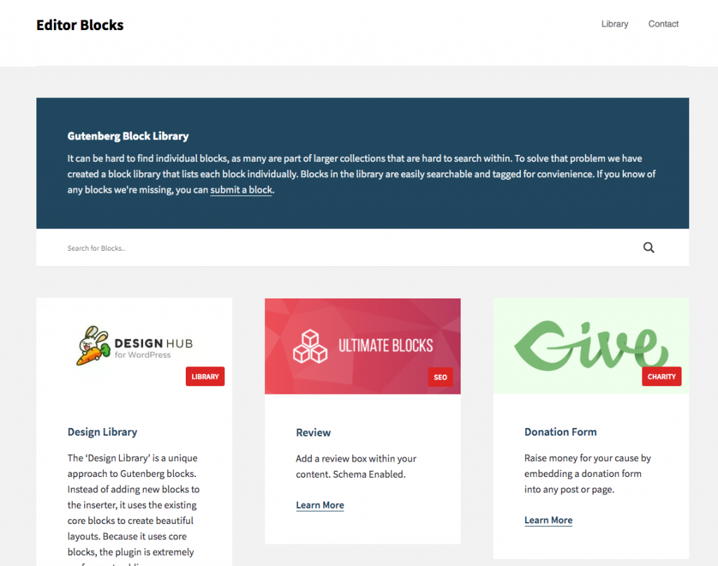 Editor Blocks Library