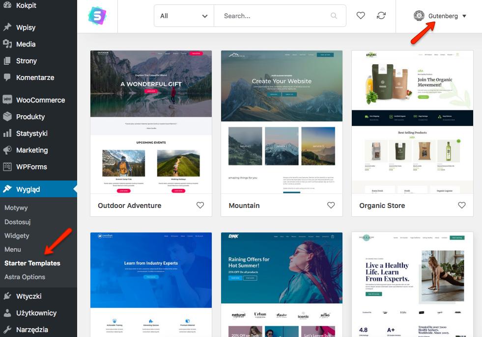 Jak zaimportować gotową stronę na blokach za pomocą wtyczki Starter Templates