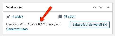 Jaką wersję WordPressa używa strona