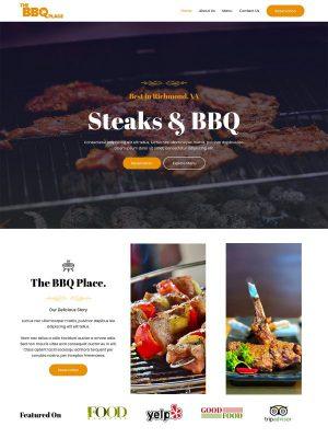 Strona dla restauracji od autorów motywu Astra