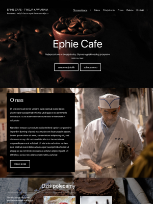Strona dla kawiarni na motywie Twenty Twenty-One