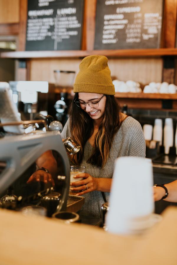 Kawiarnia dziewczyna